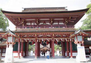 """""""学問の神""""として有名な太宰府天満宮。福岡県内はもちろん、遠方からも挙式の希望が多い。"""