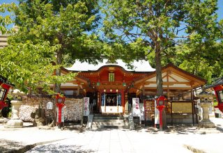 二葉山の麓に鎮座する「広島東照宮」。約1万坪の東照宮の森には梟が生息する。